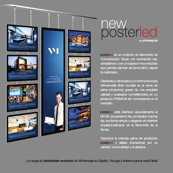POSTERLED VM. Retail display systems