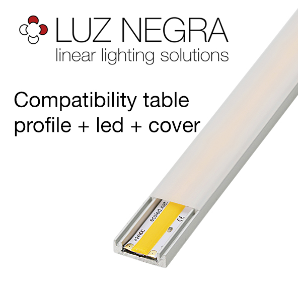 Compatibility table profile + led + cover